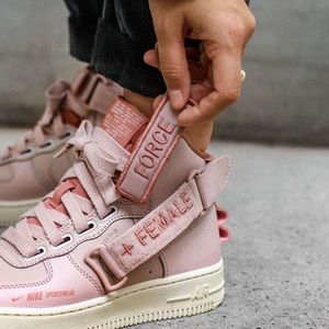 New Nike Air Force 1 High Utility Pink Sneakers